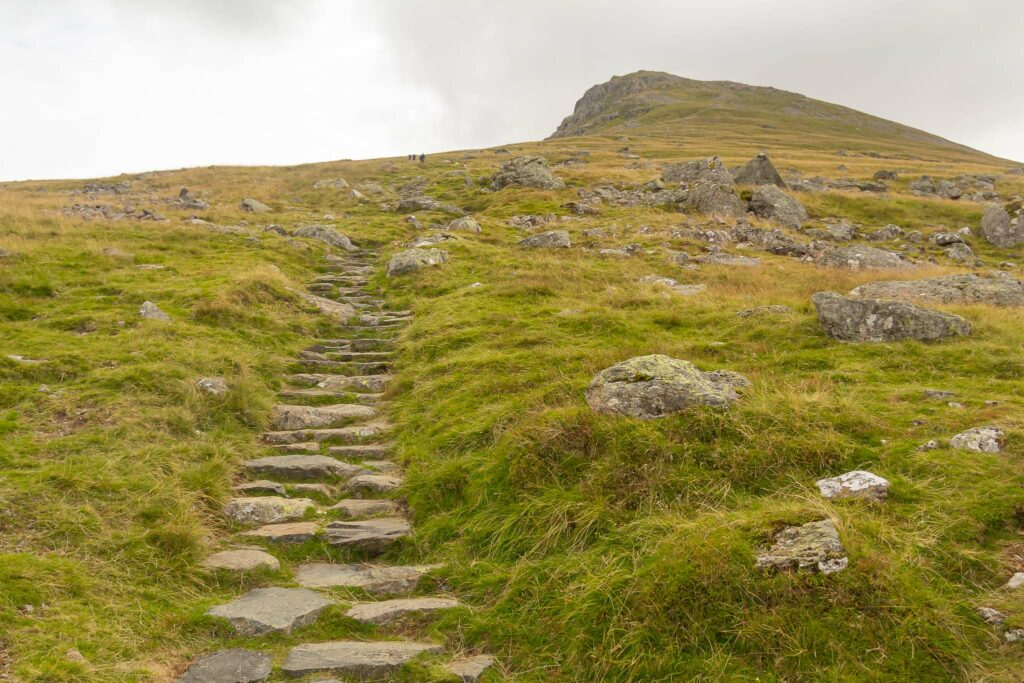 Climbing Helvellyn - Stairs