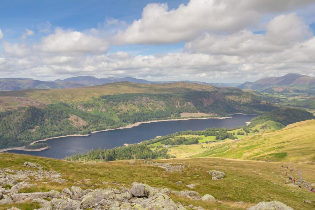 View of Thirlmere from Browncove Crags, Helvellyn