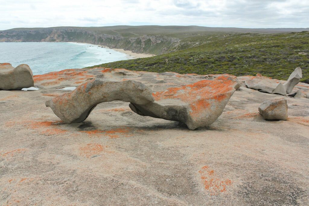 Walk down to a beach of the Flinders Chase National Park